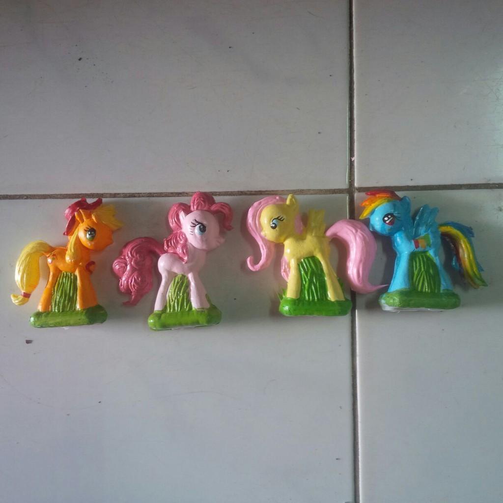 Topper Patung Kuda Poni Figure Little Pony Hiasan Kue Ultah Anak Cake Disney Tsum Dan Boneka Shopee Indonesia
