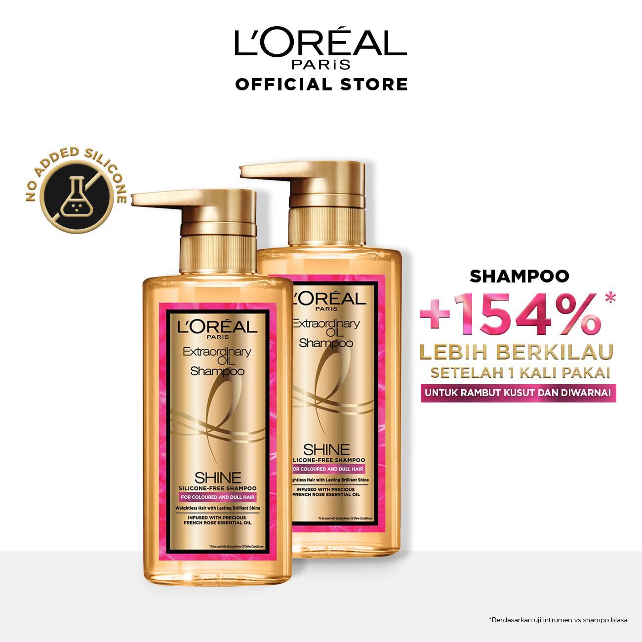 L'Oreal Paris Extraordinary Oil Premium Shampoo Shine- 440ml Twinpack