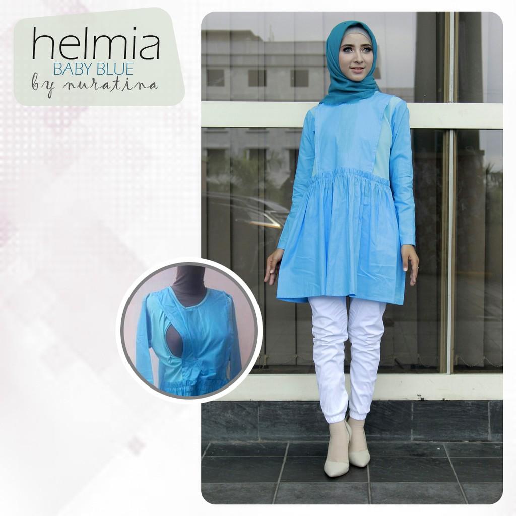 Hava Baby Blue Baju Menyusui Shopee Indonesia Just Mom Sania Navy Butterfly Sn114