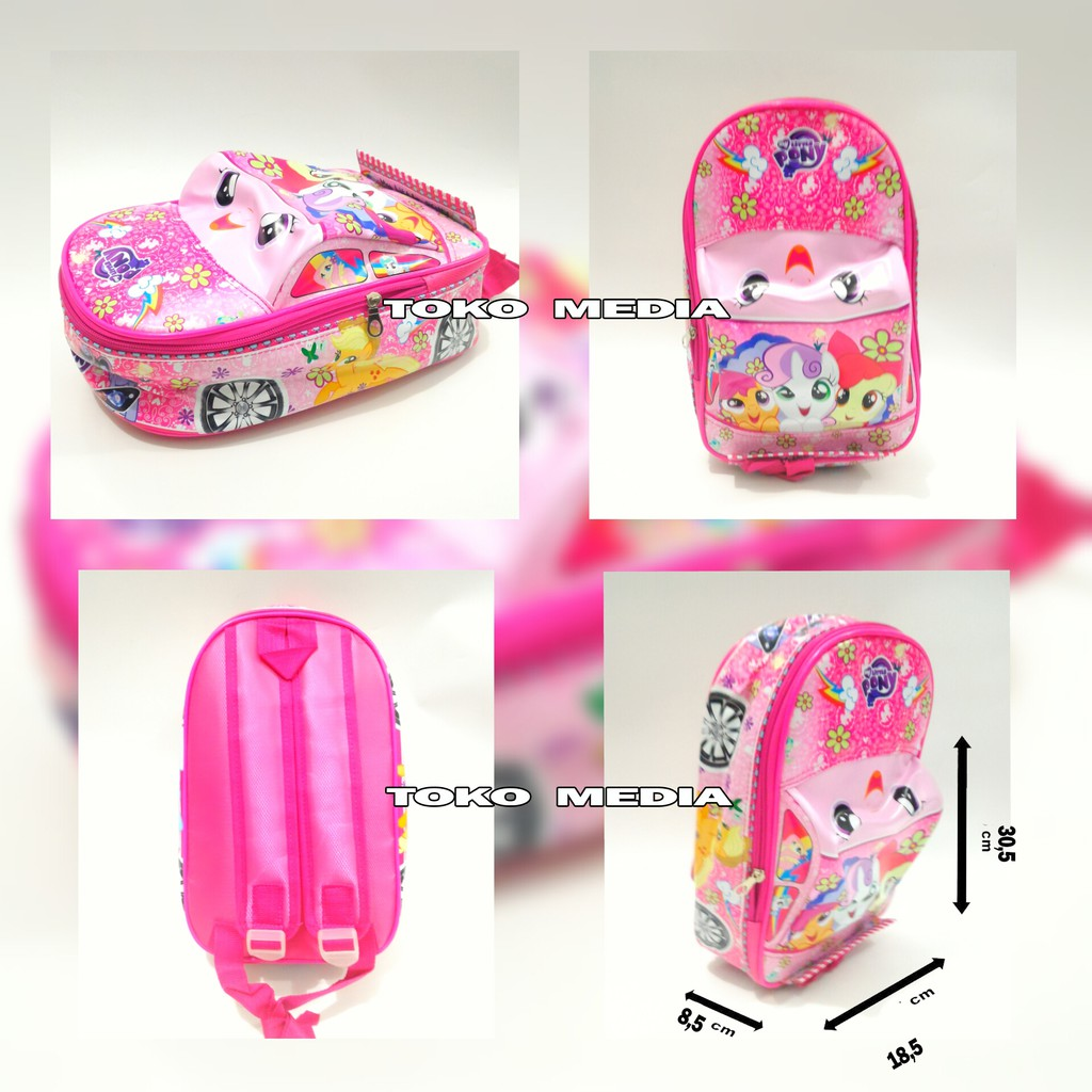 Tas Ransel Anak Sekolah Paud Model Mobil My Little Pony Tsum Pink Shopee Indonesia