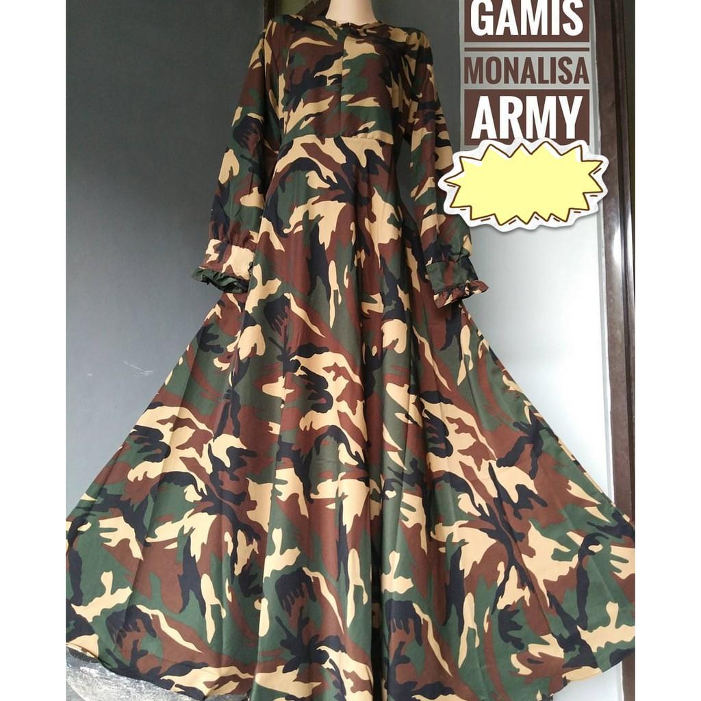 Gamis Army Temukan Harga Dan Penawaran Dress Muslim Online Terbaik