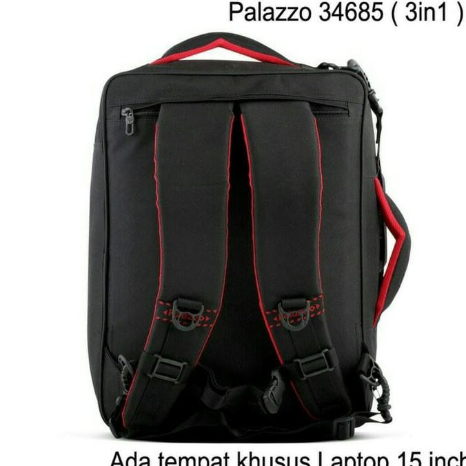 Palazzo Tas Ransel Triple Fungsi 34685 Tas Laptop Tas Jinjing Tas Selempang - Black + Raincover | Shopee Indonesia