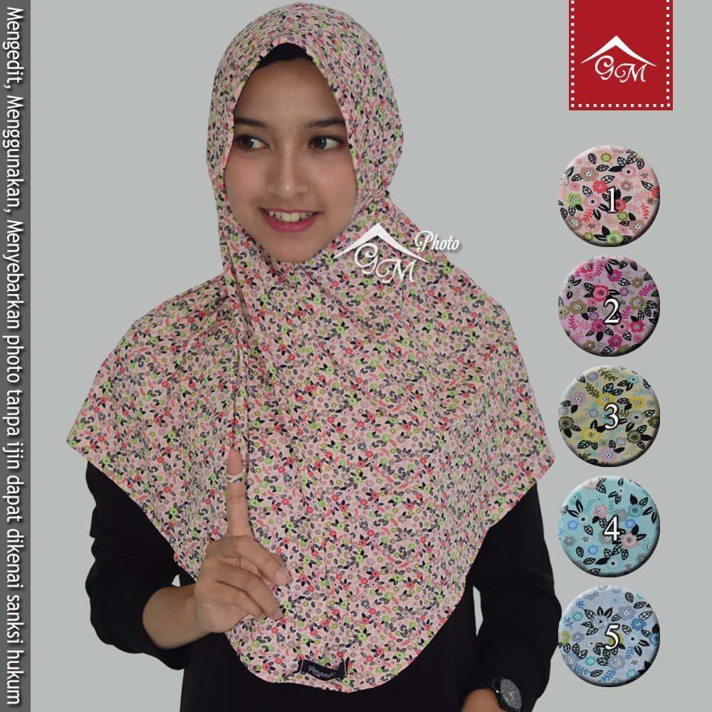 Gm Hijab Jilbab Instan Bergo Serut Tali Amanda Motif Bunga Kecil 3 Harga Diskon Sale Murah Murmer Shopee Indonesia