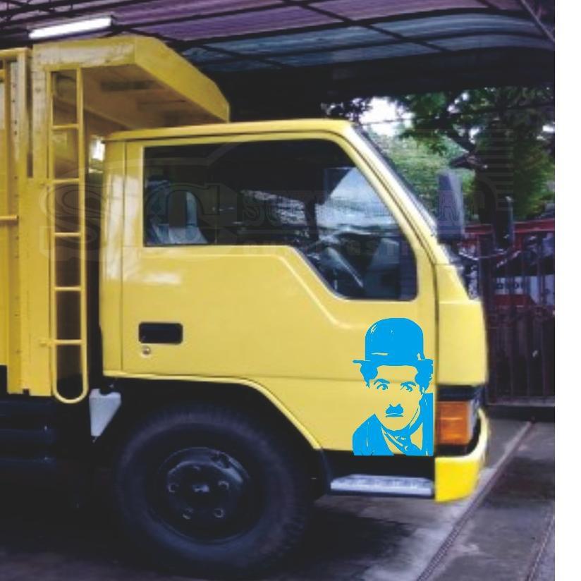 Serba Murah Cutting Sticker Mobil Gambar Chaplin Buat Di Mobil Truk Box Canter Mobil Pribadi Dll Shopee Indonesia