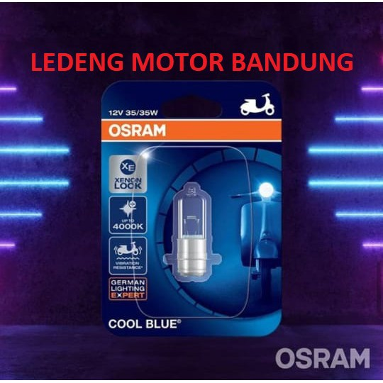 Osram Cool Blue H6 Kaki 1 Lampu Depan Halogen Motor Bebek Matic Shopee Indonesia