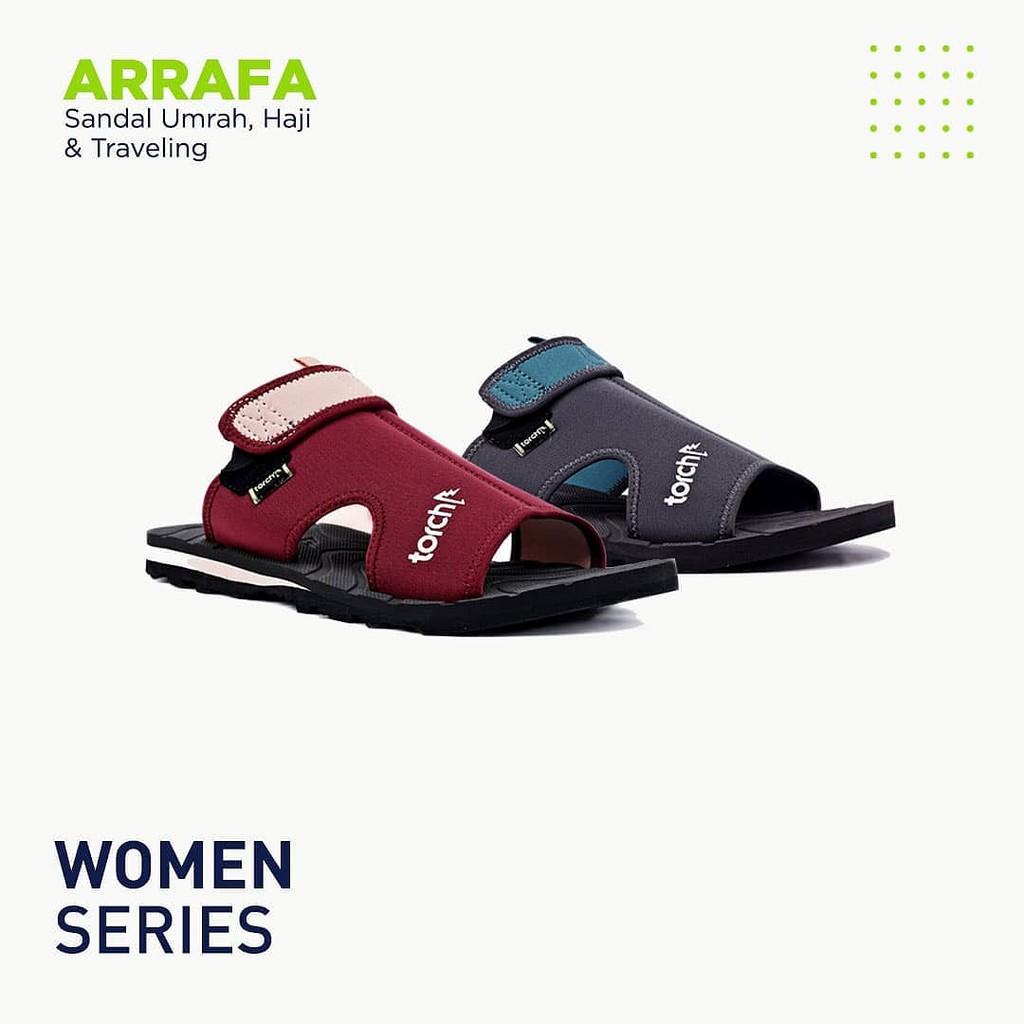 Sendal Umroh dan Haji Arrafa Women Torch / Sandal Umrah dan Haji Wanita / Sendal Traveling | Shopee Indonesia