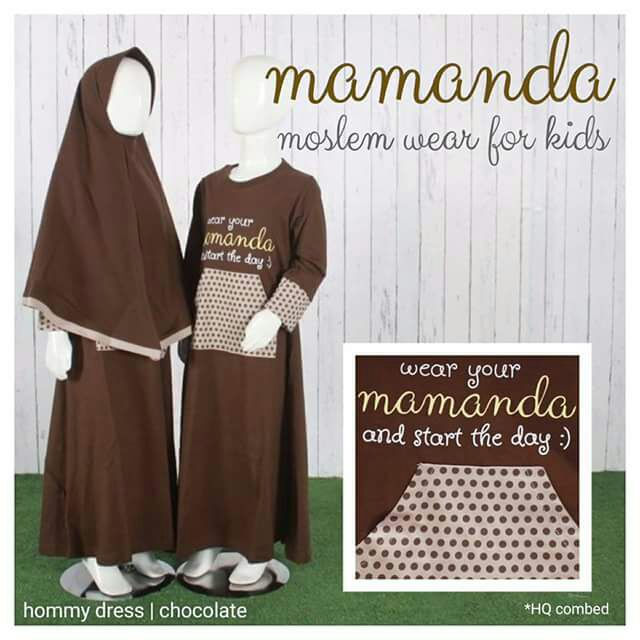 Gamis Anak Chocolate Hommy Dress by Mamanda