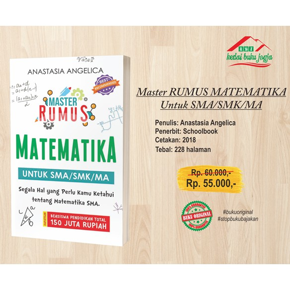 Buku Master Rumus Matematika Sma Smk Ma Shopee Indonesia