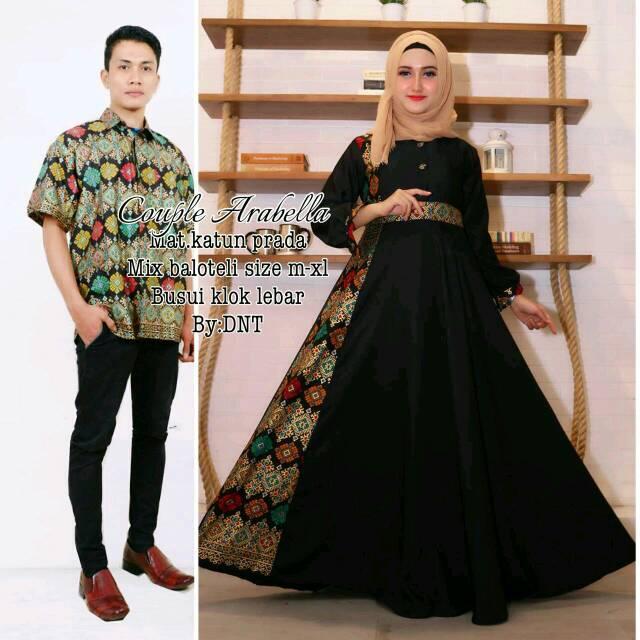 Baju batik couple keluarga batik pasangan model muslim baju pesta gamis  batik wanita arabella family  4ecf704b2d