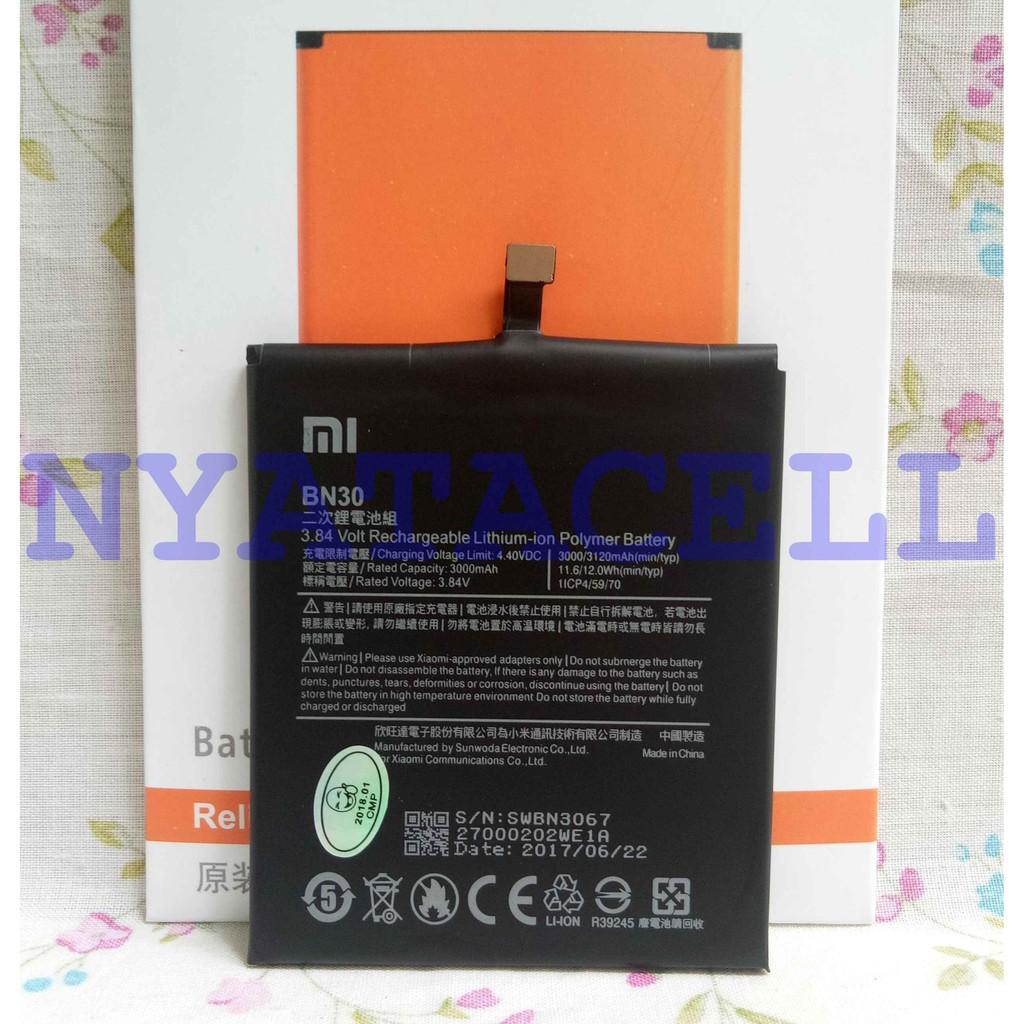 Baterai Ori 99 Xiaomi Redmi 4A BN30 Batre Original 99% KW Battery
