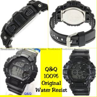 QnQ M144J001Y Original Q Q M144 Rubber Water Resist Jam tangan pria QQ Anti  air Digital M-144 Remaja e50d2f165b