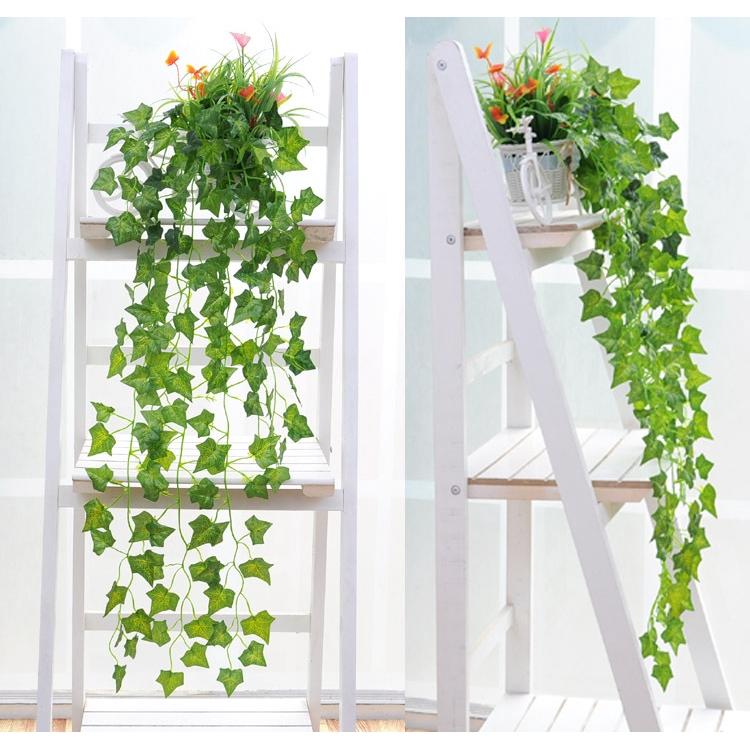 Hot Sale Hanging Leaf Garland Plant Artificial Ivy Vine Fake Foliage Flower Garden Decorations Shopee Indonesia