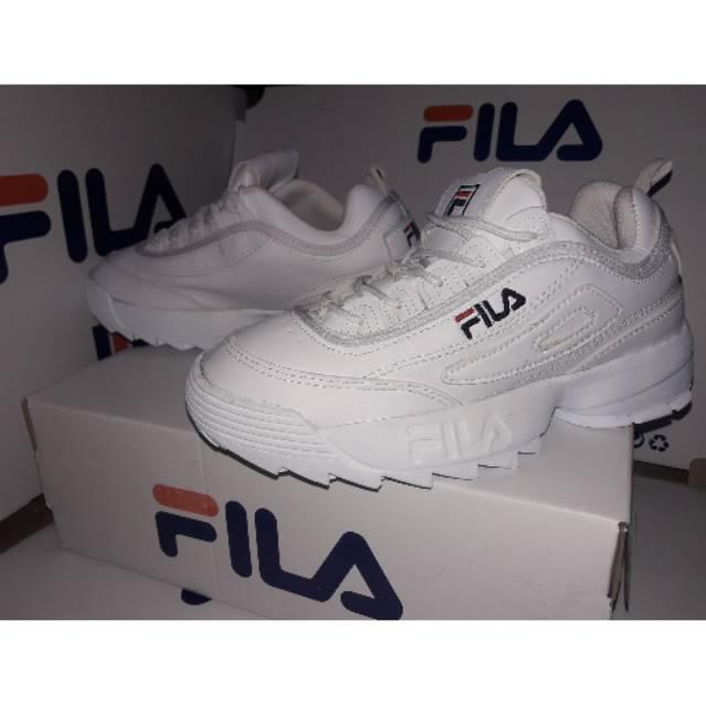 Sepatu Fila White Ladies Sneakers Fashion Cewek Cewe Sport Putih Women  b07709827b