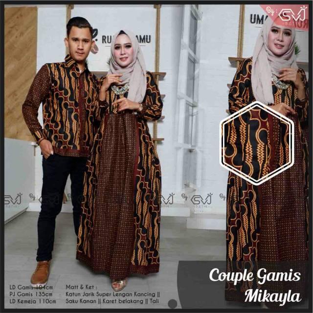 Baju Gamis Batik I Batik Couple I Baju Batik Cowok I Baju Batik Cewek I Baju Batik Pasangan Shopee Indonesia