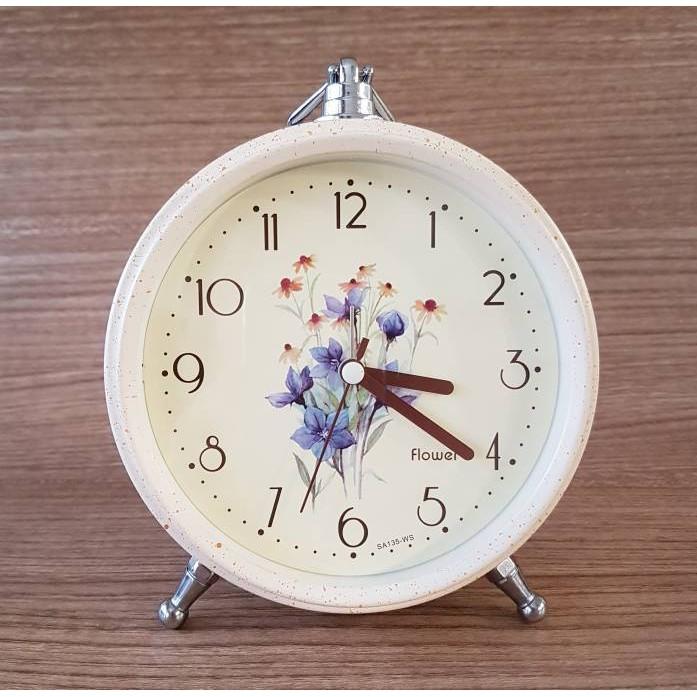 Dekad Alarm Clock Silent Clock Desain Vintage ... - Ripple Dumbbell .