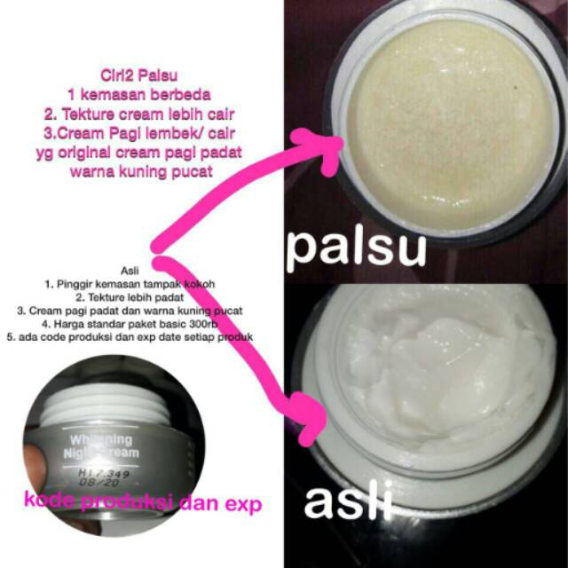 Ms Glow Night Cream Kemasan Lama Krim Malam Original Vs Palsu Shopee Indonesia