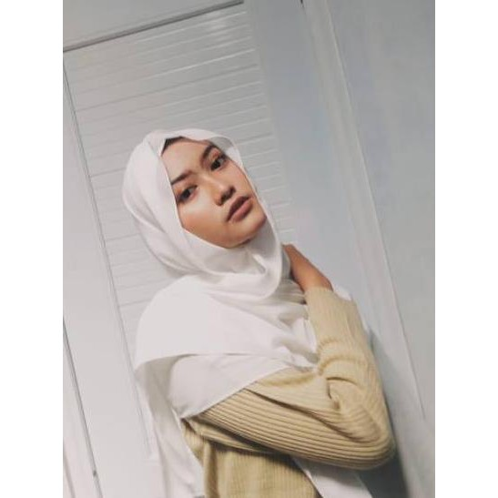 Original Pashmina Babydoll Putih Broken White Shopee Indonesia