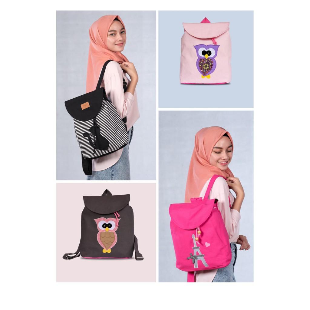 Tas Ransel Serut Mini Backpack Heejou | Shopee Indonesia
