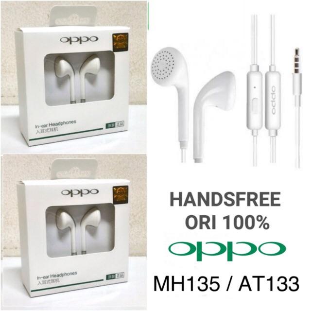 Handsfree OPPO MH135 / AT133 Original 100% - White