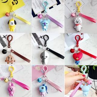 NEW Kpop BTS BT21 Gantungan kunci CHIMMY TATA COOKY Doll Keyrings/Mendukung Bayar di Tempat/COD