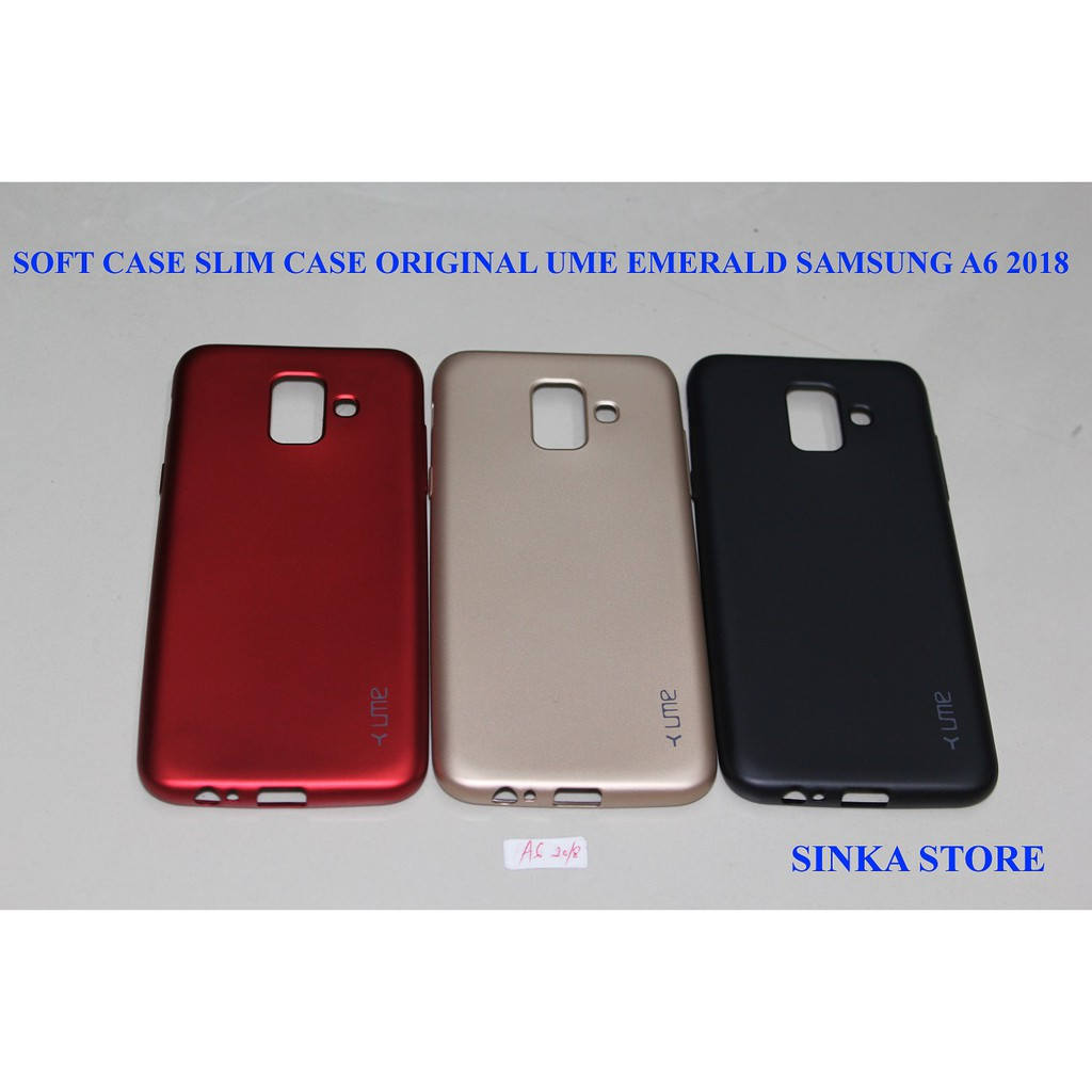 SOFTCASE SLIM CASE UME EMERALD SAMSUNG A6+ 2018 BABY SKIN | Shopee Indonesia