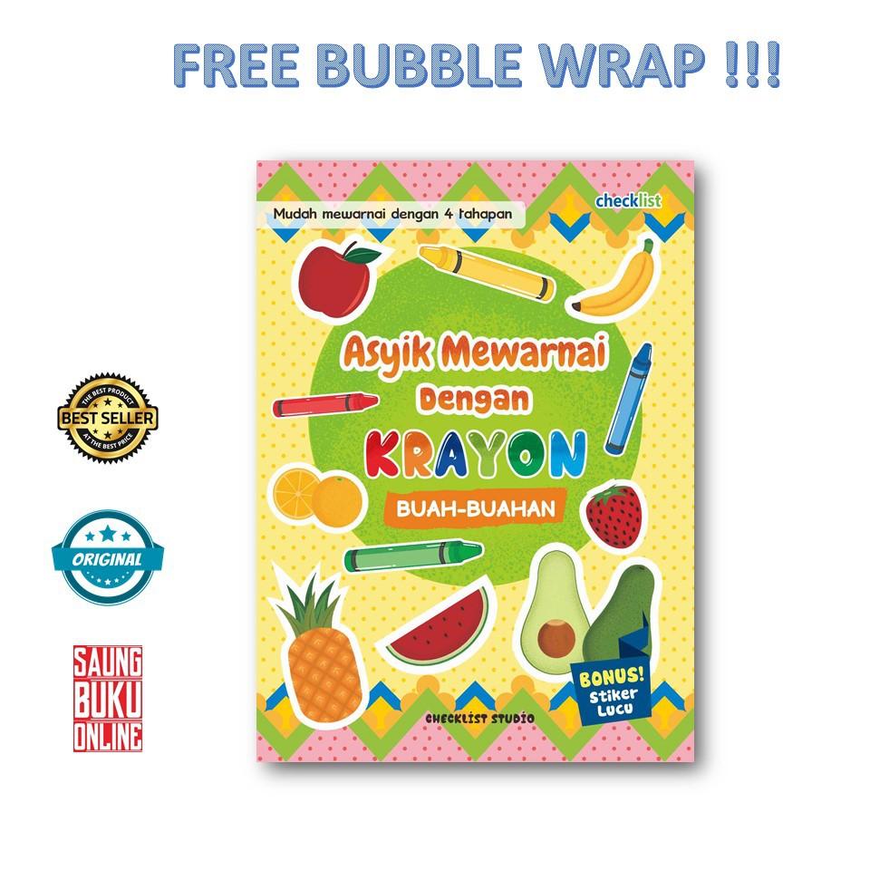 Terbaru Buku Anak Buah Buahan Asyik Mewarnai Dengan Krayon Checklist Shopee Indonesia
