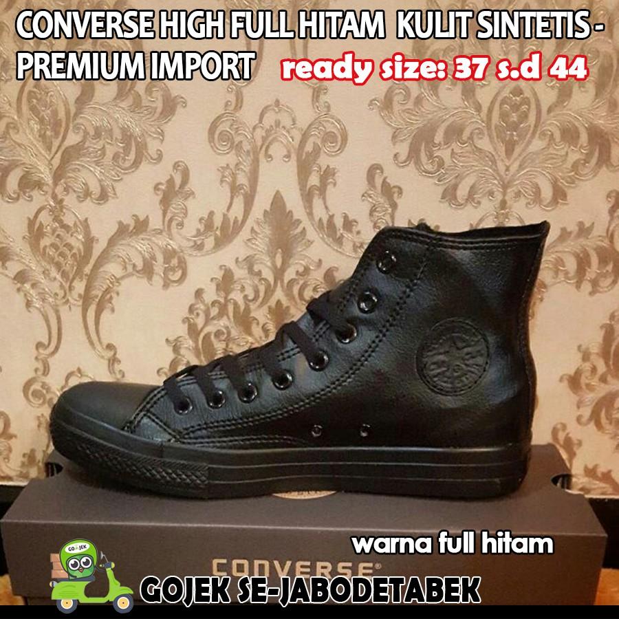 converse all star high kulit sintetis - full hitam PREMIUM IMPORT ... b219bd2b68