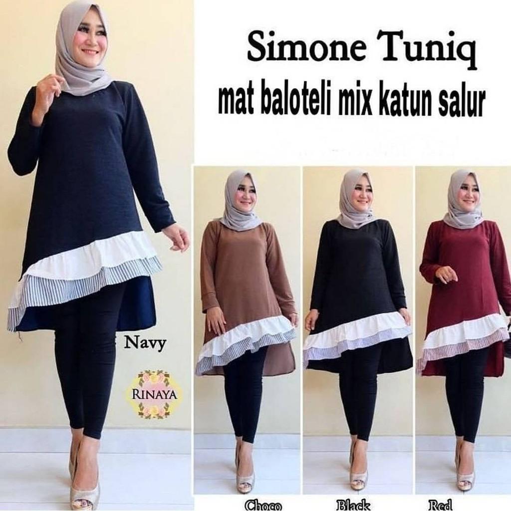 Vg Melio Tunik Shopee Indonesia Baju Wanita Atasan Sabrina Sweater Maelo Maroon