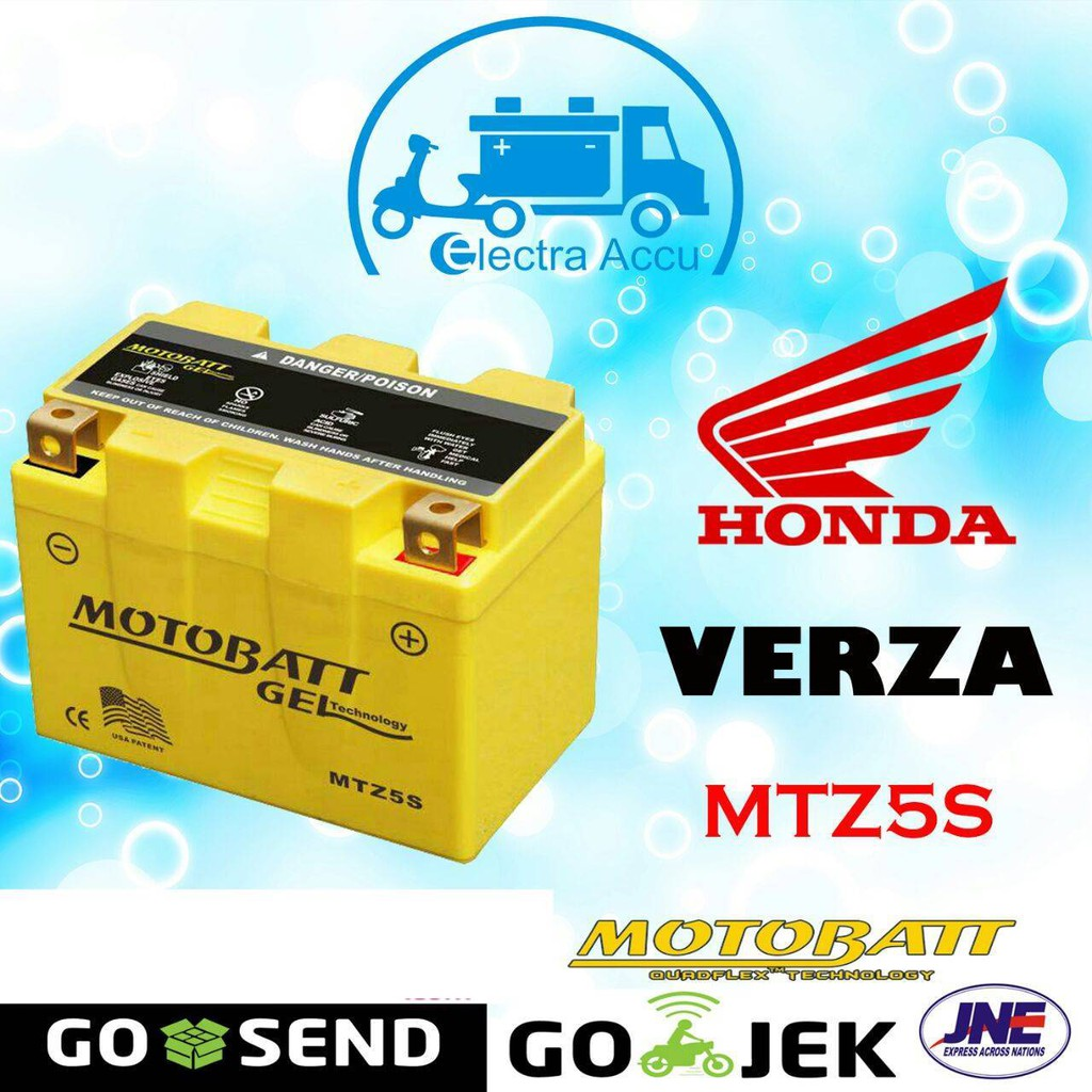 Aki Motor Honda Verza 150 Cw Mtz5s Motobatt Kering Shopee Indonesia