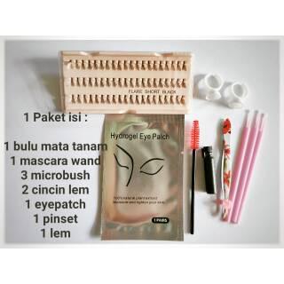 [7 in 1] Paket Komplit Bulu Mata Tanam eyelash extension human hair kualitas export thumbnail