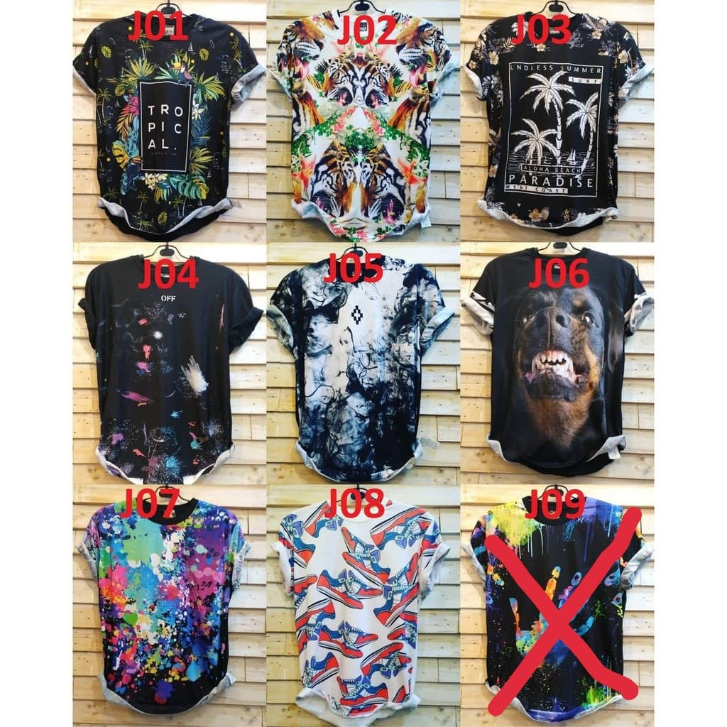 Kaos Fullprint 3d Import Bangkok Tshirt Premium Size M L Xl Baju Oblong Cowok Distro Full Print  Grosir Ecer Supplier Ter Hot Thailand Poon Shopee Indonesia