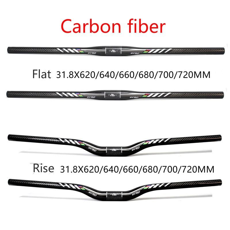 carbon MTB handlebar  31.8mm*580-720mm 3K matt//glossy bicycle Flat Rise Bar