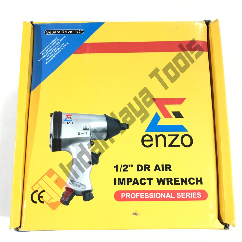 "Air Impact Wrench Kit Mollar 1/2"" / Mesin Buka Baut Kompresor 