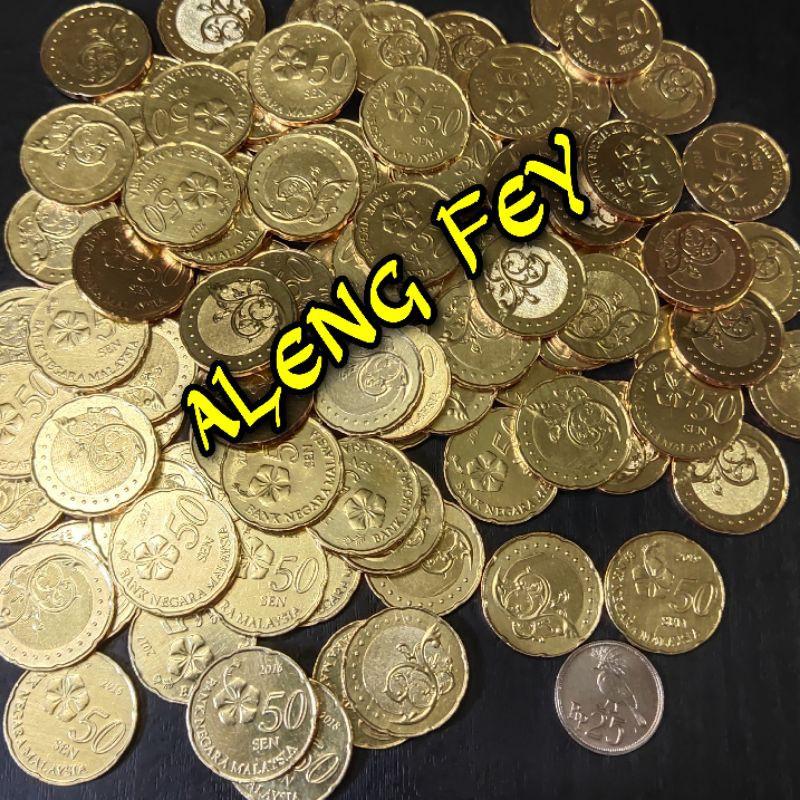 koin asing 50 sen Malaysia