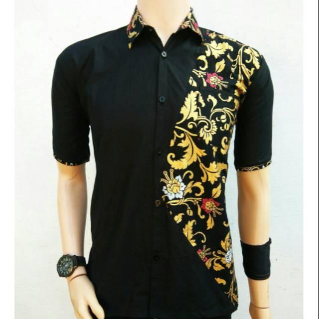 kemeja kombinasi - Temukan Harga dan Penawaran Batik Online Terbaik -  Pakaian Pria Januari 2019  dde0a7ce2d