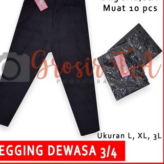 Gta Calista Legging Wanita 3 4 Warna Hitam Bahan Kaos Size L Xl 3l 4l 5l Gta0118 Shopee Indonesia
