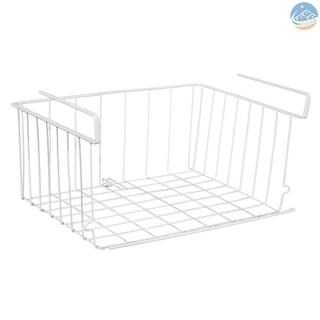 Vian Stackable Hanging Basket Under Shelf Hanging Metal Wire Storage Basket For Kitchen Office Bathroom Cabinet Shopee Indonesia