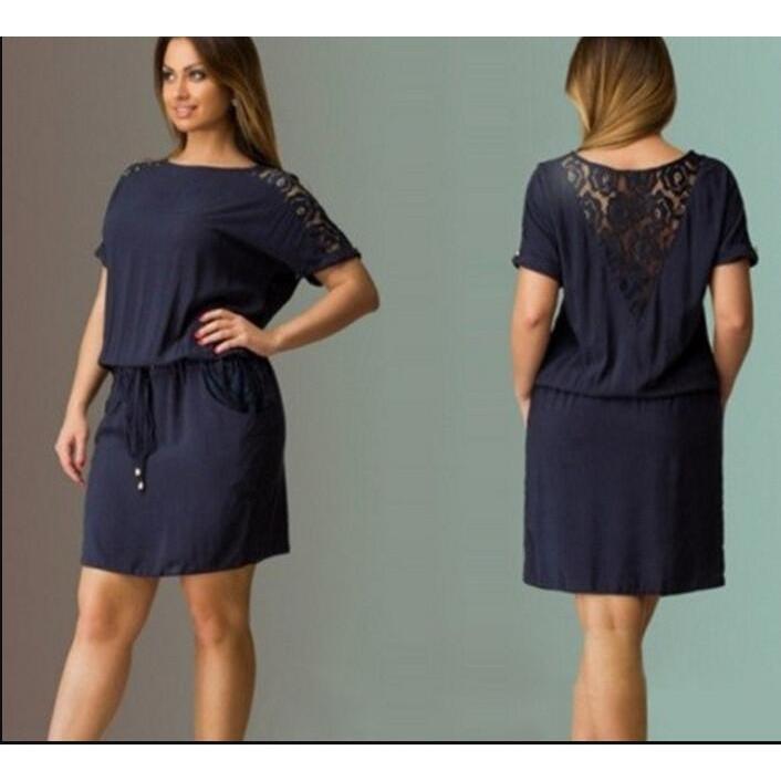 Set Gaun Tidur Wanita V-Neck Lengan Pendek+Renda Bahan Polyester+Celana  Dalam G-String Seamless  8edd02de92