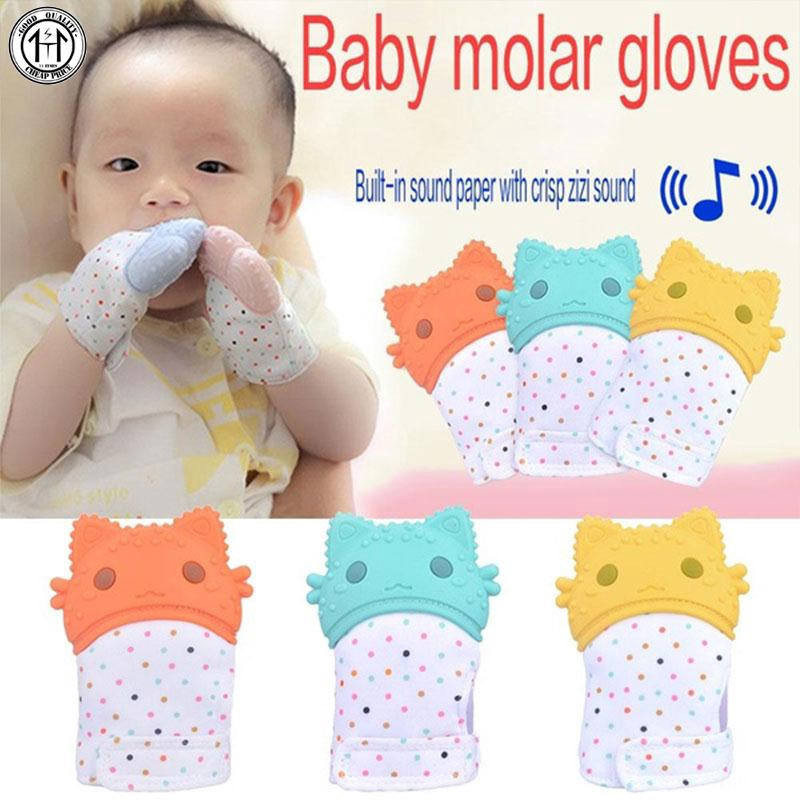 1PCS Protect your baby/'s  Hands From Growing Teeth with Silicon Gloves Mitten