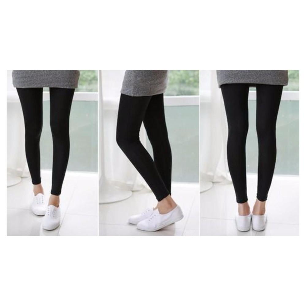 Celana Legging Wanita Dewasa Katun Celana Leging Skinny Pants Legging Olahraga Hitam Shopee Indonesia