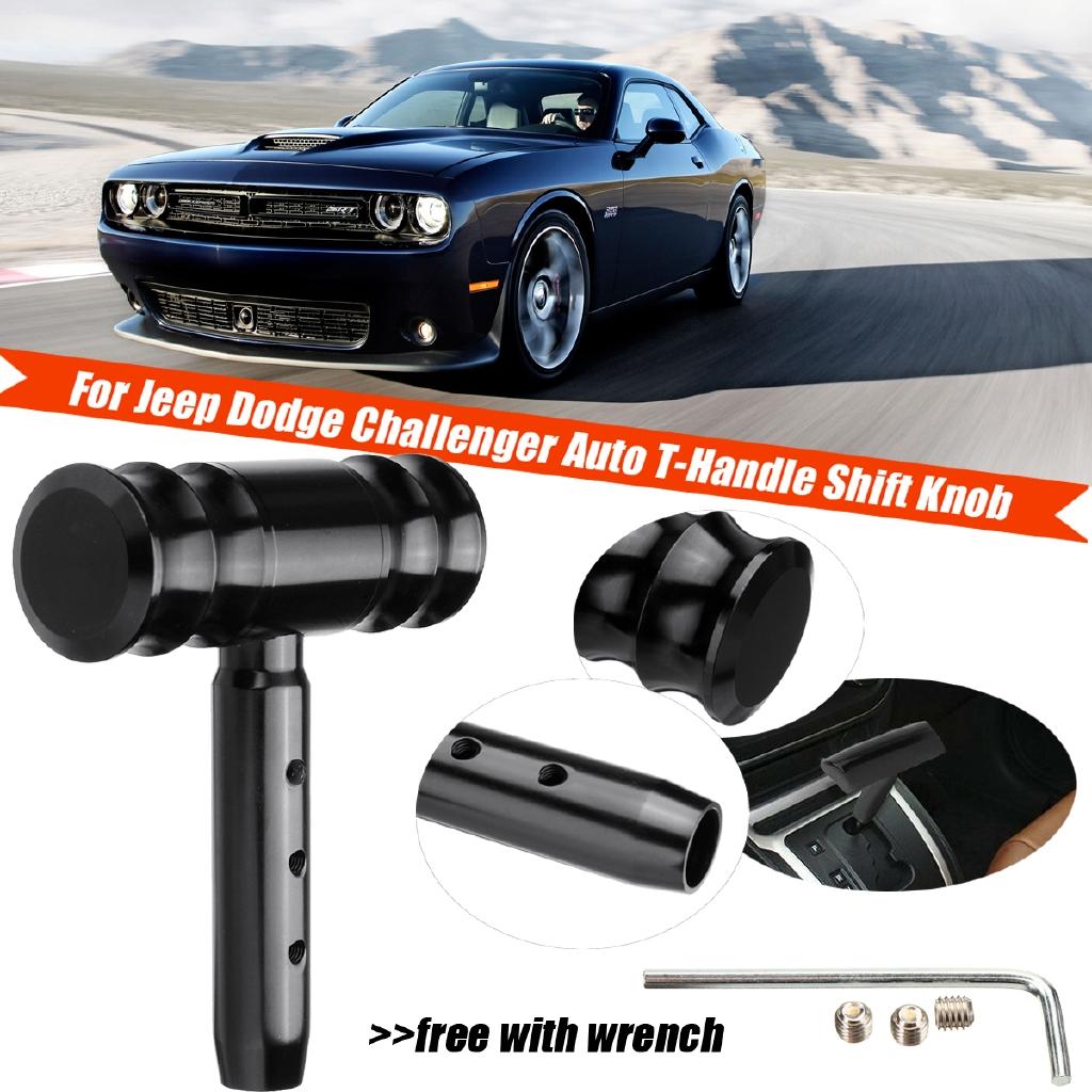 Black T-HANDLE SHIFT KNOB Shifter FOR Jeep DODGE CHALLENGER//Charger 2007-2015