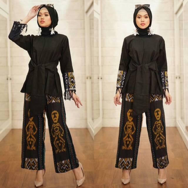 Stelan Tenun Troso Batik Set Baju Tenun Celana Tenun Tenun Troso Terbaru S1 Shopee Indonesia