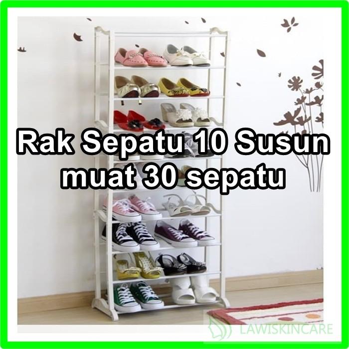 (2KG) SHENAR RAK SEPATU 10 SUSUN 9 TINGKAT BAHAN OXFORD   Shopee Indonesia