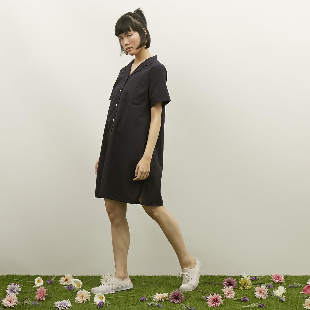 WFH Clothing Polyester Arka Tunic Navy - Dress  Wanita Casual-2
