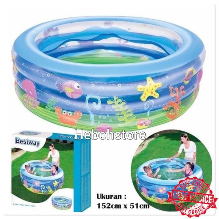 Kolam Renang Anak Summer Wave Bestway 51028 Kolam Bestway