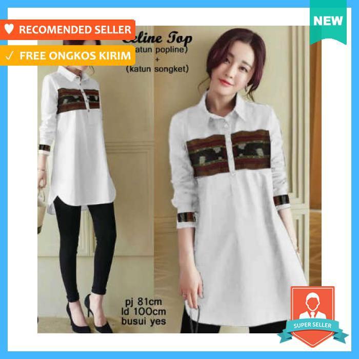 SB Collection Atasan Blouse Alarice Kemeja Jumbo Wanita. Source · batik+ kemeja+pakaian+