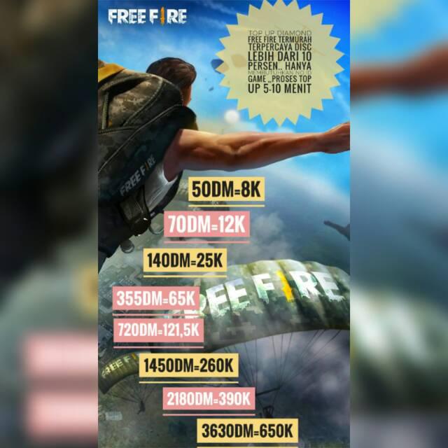 TOP UP DIAMOND FREE FIRE TERMURAH TERPERCAYA FOR IOS DAN ANDROID