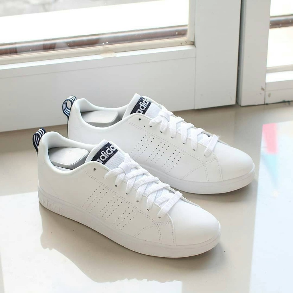 Murah Sepatu Adidas Neo Advantage Putih Original List Hitam