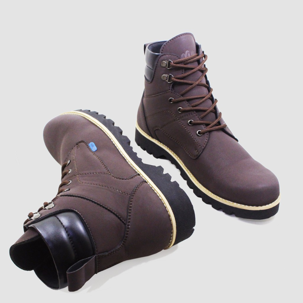 Sepatu Boots Safety Semi Kulit Kickers Gesper Zipper Pelindung Besi Touring Adventure Biker | Shopee Indonesia