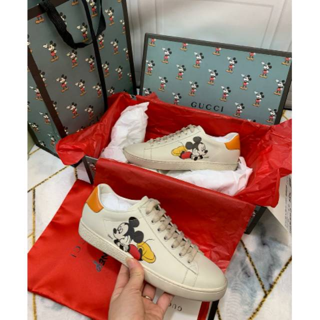 Ready Gucci X Disney Mickey Mouse Sneakers Shopee Indonesia